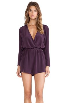 Rory Beca Smith Romper in Bordeaux