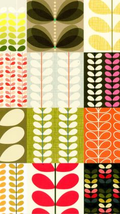 From the Orla Kiely Pattern book. Another great example of the trend in retro prints this year. Pattern Dots, Doodle Pattern, Pattern Texture, Surface Pattern Design, Colour Pattern, Motifs Textiles, Textile Prints, Textile Patterns, Geometric Patterns