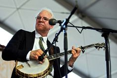 Steve Martin and the Steep Canyon Rangers perform on the Mustang Stage.