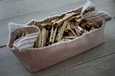 creating a cloth basket - The Shabby Creek Cottage