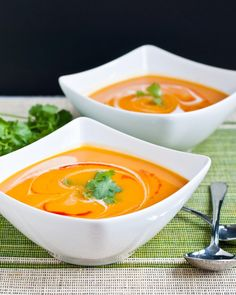 Spicy Sweet Potato Soup   Neighborfoodblog.com