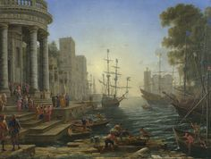 https://www.nationalgallery.org.uk/paintings/claude-seaport-with-the-embarkation-of-saint-ursula Seaport with the Embarkation of Saint Ursula.                                   9-23-16 I pinned this peice primarily due to visual appeal, the focal point is defined very well and the contrasting and contradicting colours make for a very refined well constructed peice
