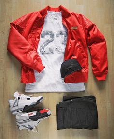 """""""outfit grid inspired by MJ's birthday #cement4s #justdon"""""""