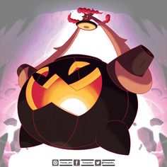 Gigantamax Gourgeist by Treven-Art on DeviantArt Pokemon Rayquaza, Ghost Pokemon, Pokemon Fusion Art, Pokemon Alola, Pokemon Comics, Pokemon Memes, Pokemon Funny, Pokemon Fan Art, Deviantart Pokemon