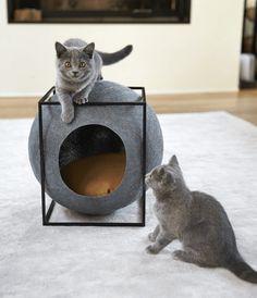 Meyou: Classy Furniture for Classy Cats - Design Milk Deco Design, Cat Design, Animal Design, Design Ideas, Modern Cat Furniture, Pet Furniture, Furniture Design, Shopping Interior, Animal Gato