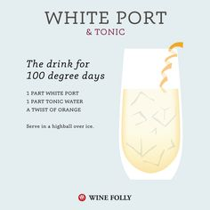 RECIPE: Wine Port and Tonic wine cocktail best summer wine cocktails by Wine Folly - http://winefolly.com/tutorial/our-very-best-summer-wine-cocktails/