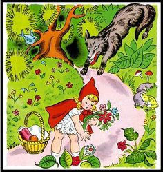 Story Time: Little Red Riding Hood – Engleza la Grădi Red Riding Hood Story, Red Riding Hood Wolf, Sequencing Cards, Story Sequencing, Red Hood, Process Art, Big Eyes, Little Red, Story Time