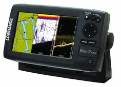 "Lowrance Elite-7 Base Combo Dual-imaging Chartplotter with 83/200/455/800 KHz HD Skimmer (9420024121696) Hybrid Dual Imaging (hdi Broadband Sounder Plus Exclusive Downscan Imaging Highly Accurate, Built-in Gps Antenna Plus A Detailed Us Background Map, With Optional Charting Upgrades 7"" Widescreen 7"" color LCD 250 Watt 83/200KHz and 455/800KHz Down Scan Imaging fishfinder Bulit-in GPS/chartplotter with basemap Includes transom mount 83/200KHz transducer One year parts and labor warranty"