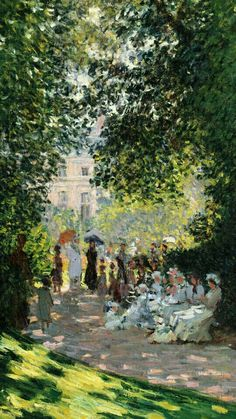 The Parc Monceau, 1878 Canvas Art by Claude Monet - Art Painting Monet Paintings, Impressionist Paintings, Impressionism Art, Claude Monet, Renoir, Monet Wallpaper, Classic Paintings, Paul Cezanne, Mark Rothko