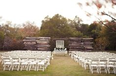 Perfect ceremony back drop and perfect for photos later