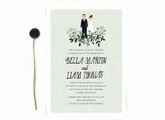 Whimsical Wedding Invitations and Stationery by Color Me Carla