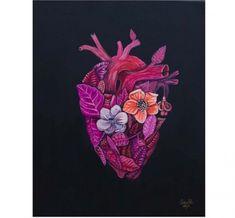SANER  Latidos del corazón  Acrílico sobre lienzo  38×45cm  2015