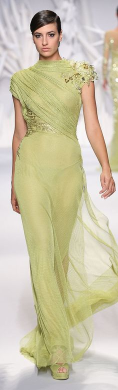 Gorgeous color=Abed Mahfouz Haute Couture Fall Winter 2013 2014  www.finditforweddings.com  Gorgeous