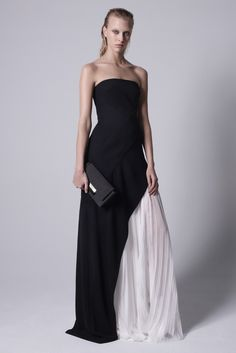 Radiant yet subtle navy gown with a splash of white. Pretty and versatile. Love it.