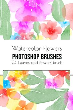 Flowers and leaves Photoshop Brushes #photoshopactions #photoshopoverlay #photoshopbrushes How To Use Photoshop, Photoshop Overlays, Photoshop Brushes, Adobe Photoshop, Brush Type, Brush Set, Watercolor Brushes, Watercolor Flowers, Wedding Stationery