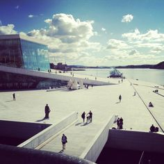 Oslo, Norway - But the operahouse was not ready when I was there, have to plan another trip there to visit Laufey my friend