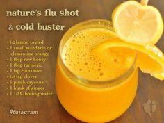 Nature's Flu Shot & Immunity Booster #natural #remedy #recipe
