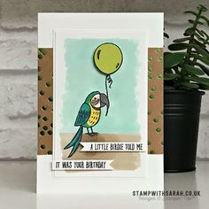 A little birdie told me card from the Bird Banter stamp set from Stampin' Up! – Shop for Stampin' Up! UK | Sarah Berry