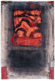 D-7.May.1998 44.5x31cm mixed media painting 林孝彦 HAYASHI Takahiko 1998