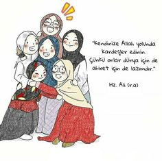 Find ourselves brothers and sisters in the way of Allah, because they are in the Hereafter . Cartoon Pics, Cute Cartoon Wallpapers, Girl Cartoon, Cute Love Pictures, Cute Images, Muslim Quotes, Religious Quotes, Quotes Sahabat, Quran Quotes