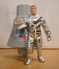 Joe in Astronaut Suit with Space Capsule. I wanted this so bad as a child. Gi Joe, 1960s Toys, Retro Toys, Childhood Toys, Childhood Memories, Man, Astronaut Suit, Videogames, Space Toys