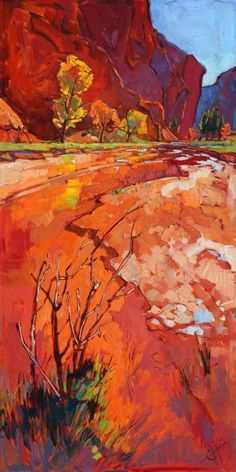 Hop Valley, in Zion National Park, captured in bold oils by California artist…