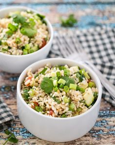 Hollywood Bowl Brown Rice Salad. Cheap and Meat Free!