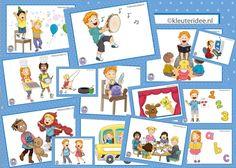 Vandaag gratis!! 32 dagritmekaarten voor kleuters, juf Petra kleuteridee / Preschool schedule cards