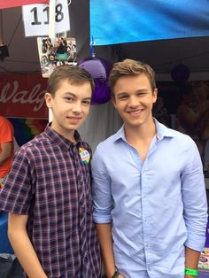 Hayden Byerly and Gavin Macintosh at #LAPRIDE #TheFosters