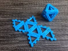 Customizable Hinged Polyhedra by mathgrrl - Thingiverse Buy A 3d Printer, 3d Printer Projects, Cnc Projects, 3d Printing Diy, 3d Printing Business, Useful 3d Prints, 3d Things, 3d Printed Objects, Platonic Solid