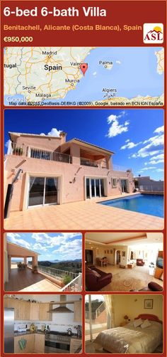 Villa for Sale in Benitachell, Alicante (Costa Blanca), Spain with 6 bedrooms, 6 bathrooms - A Spanish Life Alicante, Electric Gates, Villa, Valley View, Double Garage, Surveillance System, Central Heating, Large Windows, Stunning View