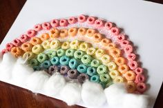 Fruit loop St. Patricks Day rainbow toddler craft!