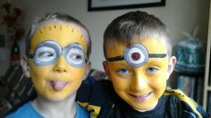 minion face paint - Google Search