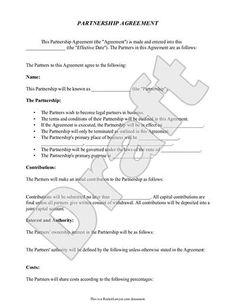 sample silent partnership agreement form template