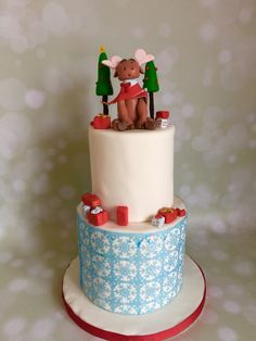 Moose Christmas cake