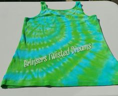 Tie Dye- Ladies Tank Top- Size large- Sleep wear- Undershirt- Rainbow Christmas Gift- Cheap Christmas Gift- Sleeveless Tee-shirt by BrinserTwistedDreams on Etsy