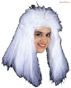 Wig Sorceress White#Wig, #Sorceress, #White Funny Halloween Costumes, Adult Costumes, Halloween Ideas, Warlock Costume, Morris Costumes, Wig Hat, Teased Hair, Costume Wigs, Wig Making