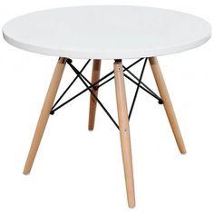Mesa TOPER, baja, madera, polipropileno blanco                              …