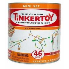 Classic Tinkertoys game. I remember playing with these when I was a kid!