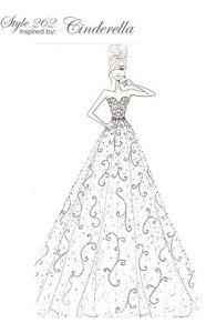 Coleção de vestidos de noiva das princesas da Disney 2016 Cinderella  #vestidosdenoivasdasprincesas #princesasnoivas #princesasdadisney #disney