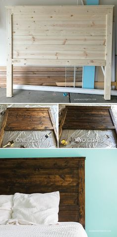 Make your own DIY rustic headboard. Easy way to spruce up your bedroom!
