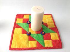 Mini Quilt Trivet Pot Holder Mug Rug Candle Mat by 2Fun4Words