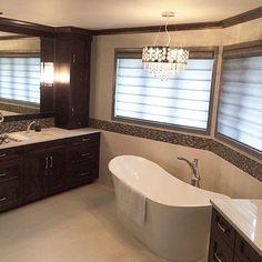 Another happy client with a full house of powered Pirouettes. A beautiful shade to complete a newly renovated master ensuite.