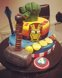Superhero cake by Kerry Marks - For all your cake decorating supplies, please visit craftcompany.co.uk