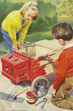 Painting go-cart - Peter And Jane, Things We Do