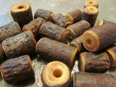 20 Handmade Mixed Wooden Beads. Various Sizes by PymatuningCrafts, $12.00