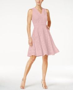 9d32a64e3960 Charter Club Lace Fit   Flare Dress