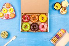 glazed donuts cupcakes and macaroons