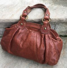 fc2483e05a28 Lucky Brand bag purse brown Italian lamb leather shoulder