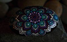 Hand Painted River Rock Mandala